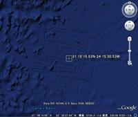 googlemapにアトランティス大陸が?